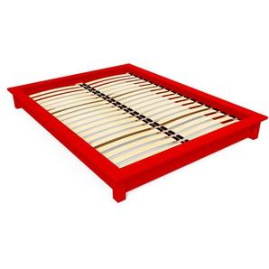 Lit futon Solido bois Massif - 2 places 160x200 Rouge