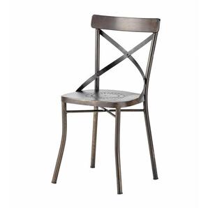 Chaise de jardin en métal noir Tradition