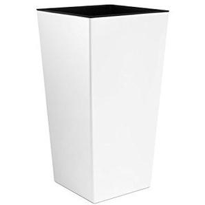Unbekannt Grand Vase Blanc pour lintérieur, Vase XL en Plastique de 50cm avec intérieur de Couleur contrastée, Disponible dans 7Couleurs