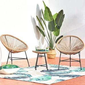 Acapulco beige 2 chaises et 1 table