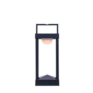 PARC M-Lampe à poser/Applique dextérieur LED solaire Aluminium H40cm Noir Charbon Maiori