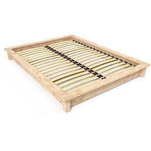 Lit futon Solido bois Massif - 2 places 160x200 Brut