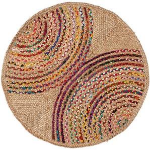 Tapis rond Graciela Ø100 cm jute multicolore