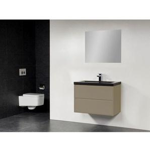 Saniclass New Future Foggia Meuble salle de bain 80cm avec miroir taupe