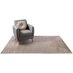 Tapis poil ras Velvet Marron 80x150 cm - Tapis poil court design moderne pour salon