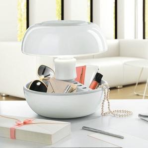 JOYO-Lampe avec port USB Multifonction Laquée H27cm Blanc Vivida - designé par Samuel Codegoni