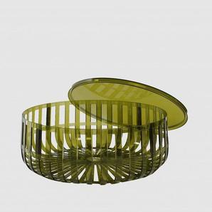 Kartell Table basse Panier - vert foncé transparent