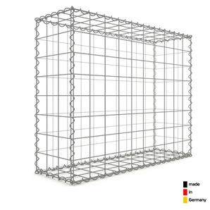 Gabion 100x80x30cm « made in Germany » - mailles carrées 10x10cm - GABIONDECO