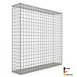 Gabion 100x100x20cm « made in Germany » - mailles carrées 5x5cm - GABIONDECO