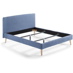 Lit Dyla rembour 150x190 cm bleu clair