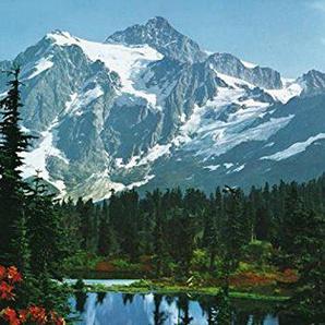 Montagnes Rocheuses Poster Papier Peint - Sommet De Montagne 4 Parties (254 x 183 cm)