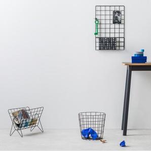 Essentials – Moss, étagère murale grillagée, noir