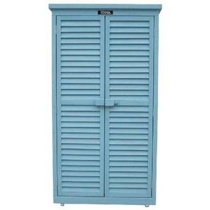 Armoire de jardin Space - 87 x 46.5 x 160 cm - Bleu ciel - HABITAT ET JARDIN