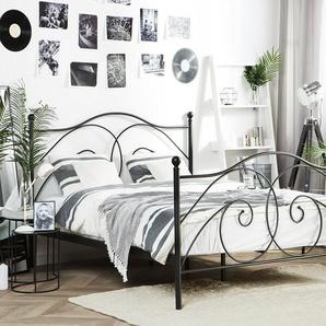 Lit noir 160 x 200 cm DINARD