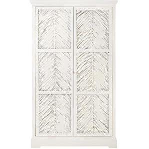 Dressing 2 portes en manguier massif blanc Tatawi