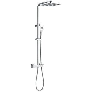 Système de Douche Carré Thermostatique Showerpipe Colonne de Douche En laiton Spray supérieur ultra fin 10 pouces Ensemble de douche pour salle de bain - AURALUM