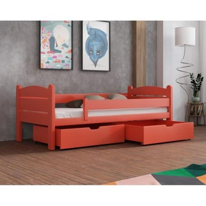 Lit Matis junior - disponible en 8 couleurs et 8 tailles - Orange - 80 cm x 180 cm