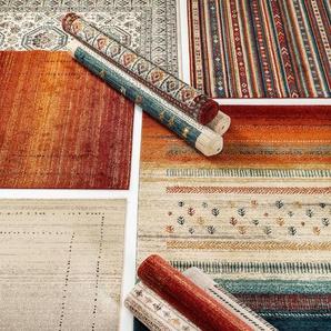 Tapis poil ras Kamal Beige/Multicouleur 80x150 cm - Tapis poil court design moderne pour salon
