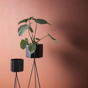 ferm LIVING Pot de fleurs Hexagon - L - noir