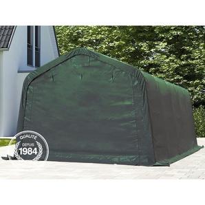 Tente garage carport 3,3 x 4,8 m tente délevage abri stockage bâches PVC antifeu épaisses de 720 g/m² vert fonce - INTENT24.FR