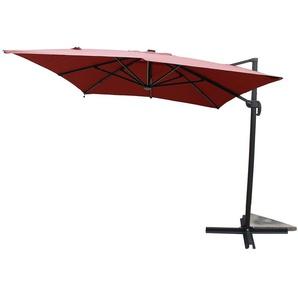 Calvia Terracotta - Parasol rectangulaire avec LED - CONCEPT-USINE