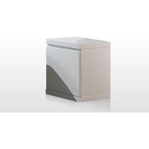 Chevet contemporain blanc Elara - Blanc laqué - DELADECO