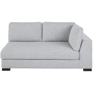 Accoudoir droit de canapé 2 places gris clair chiné Terence