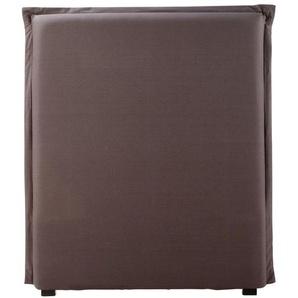 Housse de tête de lit 90 en coton gris anthracite