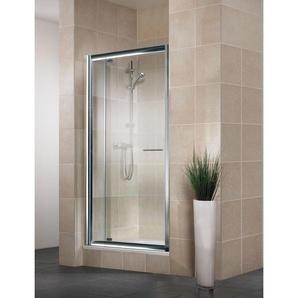 Porte de douche pivotante extensible, verre 5 mm, Vita, Schulte, 90-100 cm, profilé aspect chromé, verre transparent