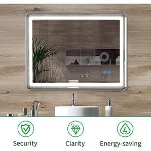 Tonffi 25W Miroir LED Anti-Buée Lampe de Miroir 80×60CM 4000K Blanc Neutre pour Salle de Bain