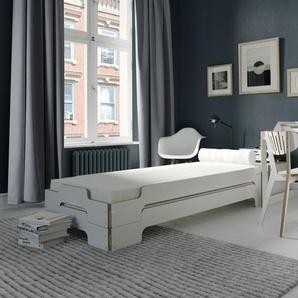 Müller Möbelwerkstätten Couchette empilable Classique - 100 x 200 cm - noir