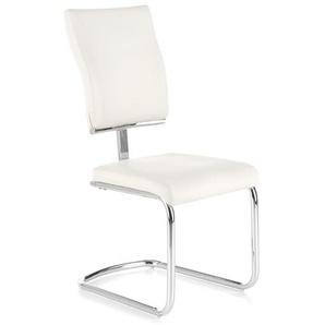 Chaise luge métal et éco-cuir blanc Sunny