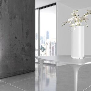 AQUARIUS-Lampe à poser LED Métal & Verre Forme Vase H55cm blanc laque SpHaus - designé par Filippo DellOrto