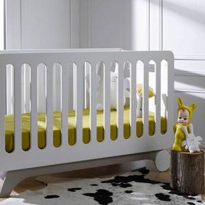 Chambrekids - SOFAMO Lit évolutif bébé Bonheur Blanc & Lin 70 x 140