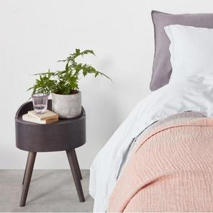 Elda, couvre-lit 100% coton lavé, 150 x 200 cm, rose poudré
