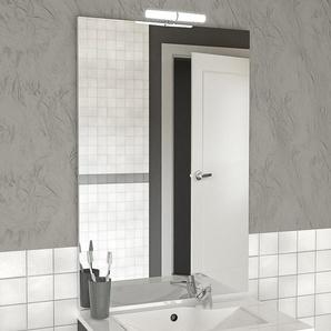 Miroir MIRCOLINE avec applique lumineuse LED - 60x105cm