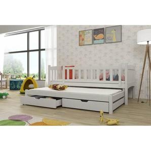 Lit gigogne Amel personnalisable - Blanc - 80 cm x 180 cm