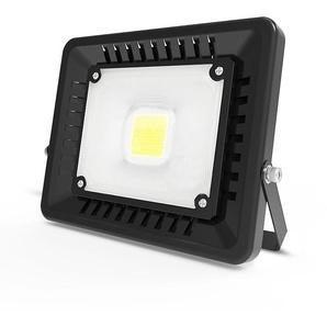 Anten 50W Projecteur LED IP65 Étanche Ultra-Mince Spot LED Léger Puissant Lampe pour Intérieur et Extérieur Blanc Froid 6000K (Noir)
