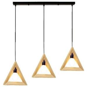 LUSTRE - SUSPENSION LED Simple triangle des arts créatifs bois personnalisé lustre 30CM 220V 40W - STOEX