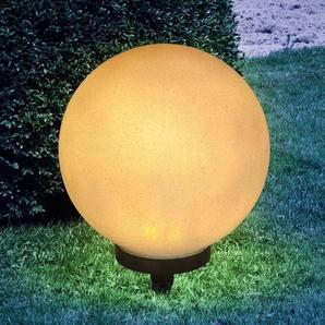 Lampe solaire à piquet Preeti 25cm aspect pierre