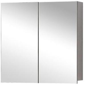 Differnz Armoire de toilette 90x60x15cm 2 portes avec miroir MDF chêne 36.701.07