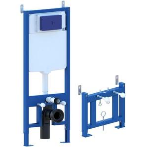 Châssis de bâti-support pour bidet, châssis réservoir caché complet de plaque de commande Inox pour couple de sanitaires suspendu - GIORGY