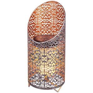 Lampe solaire LED Marija déco, effet torche ambré