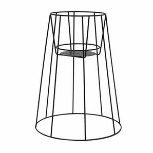 OK Design Support pour pot de fleurs Cibele M - noir/revêtu par poudre/H 45cm/Ø 22cm/bas Ø 35cm/pour pots avec Ø 17-19cm