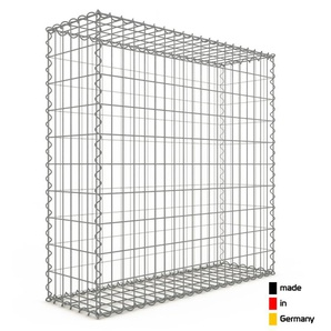 Gabion 100x100x30cm « made in Germany » - mailles rectangulaires 5x10cm - GABIONDECO