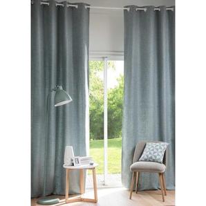 Rideau à illets bleu gris à lunité 130x300