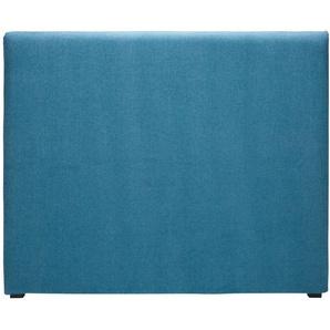 Housse de tête 140 de lit en tissu bleu cobalt