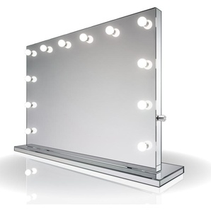 Miroir Fini Make up Diamond X Hollywood Audio LED Blanc Froid Variable k253CWaud - Couleur LED : Ampoules LED blanches froides - DIAMOND X COLLECTION