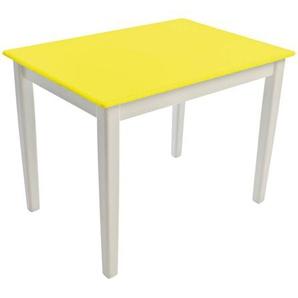 Kinderbunt Tim - Table d'Enfant bicolore - jaune/69x49x51cm/structure blanc RAL 9010