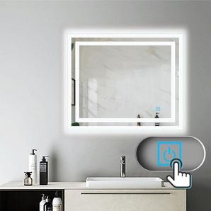 Miroir salle de bain 90x70cm anti-buée Mural Lumière Illumination avec éclairage LED - AICA SANITAIRE